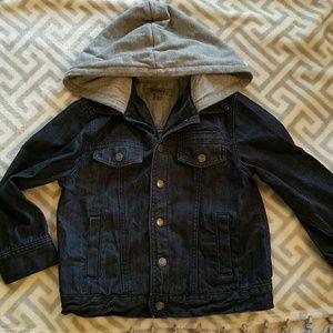 Dkny Jackets & Coats - DKNY Boys Dark Denim Jacket with Hoodie size 5